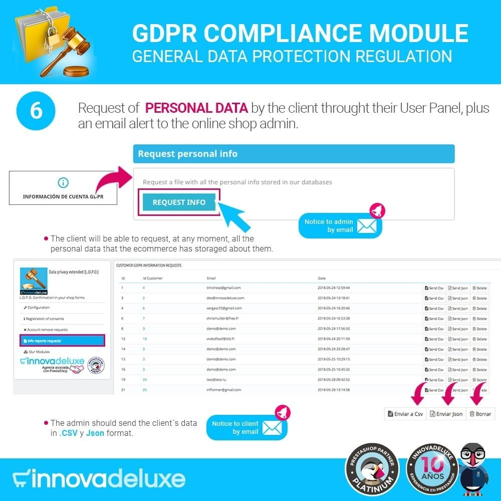 module - Legal - Data privacy extended (data protection law) - GDPR - 11