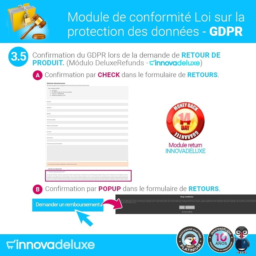 bundle - Législation - pour l'accomplissement des normes légales GDPR - 8