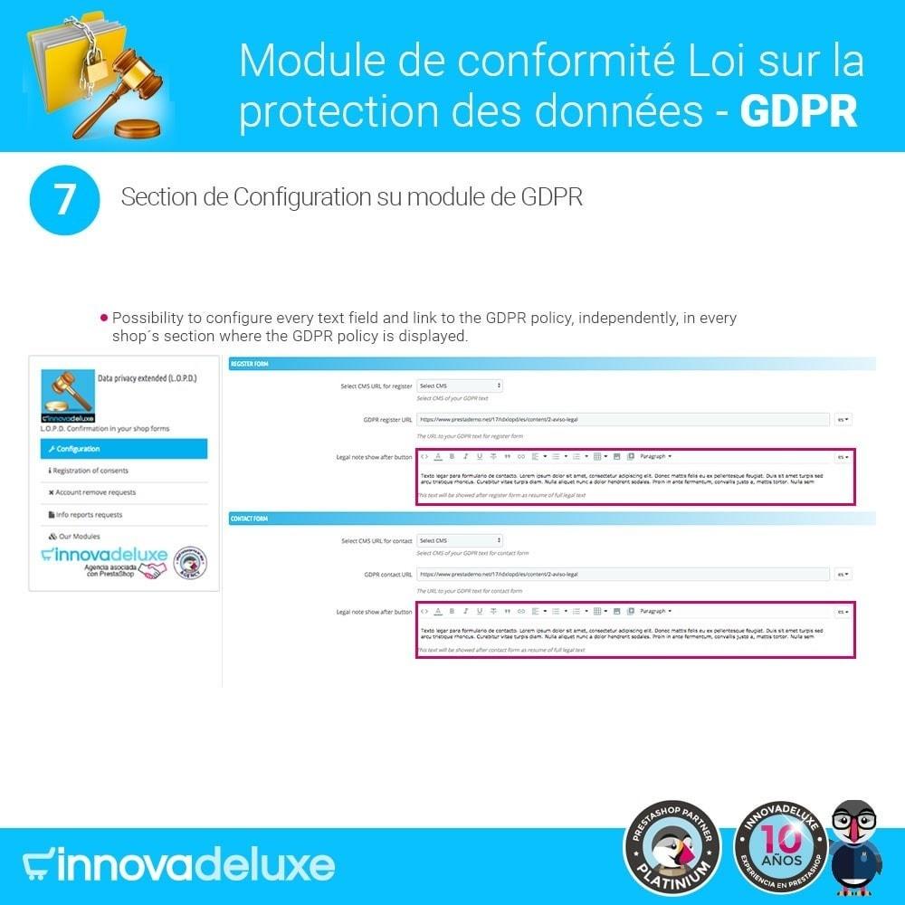 module - Législation - Conformité à la Loi sur la protection des données RGPD - 13