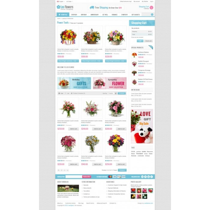 theme - Cadeaux, Fleurs et Fêtes - Leo Flower - 4