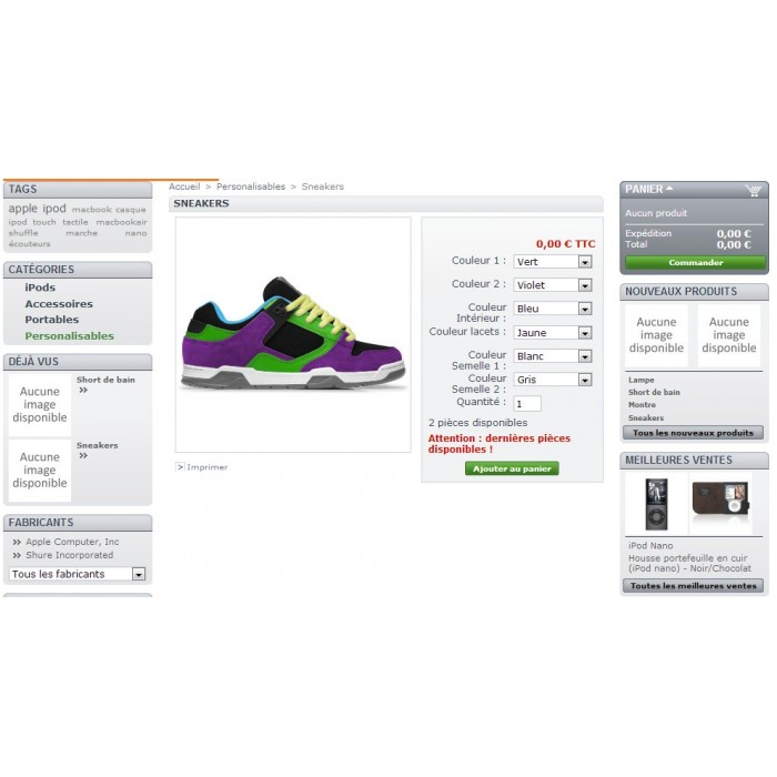 module - Bundels & Personalisierung - Product customization - 1