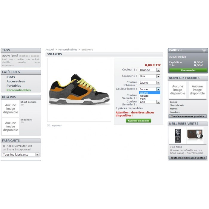 module - Bundels & Personalisierung - Product customization - 3