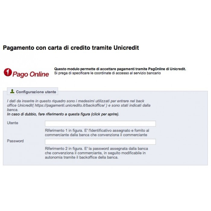module - Payment by Card or Wallet - Unicredit PagOnline Carte - 3