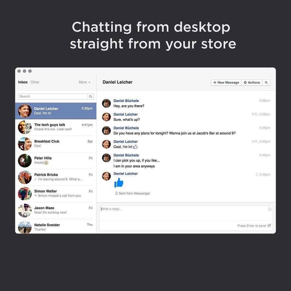 module - Support & Chat Online - Messenger Integration Pro (Chat avec les clients) - 5
