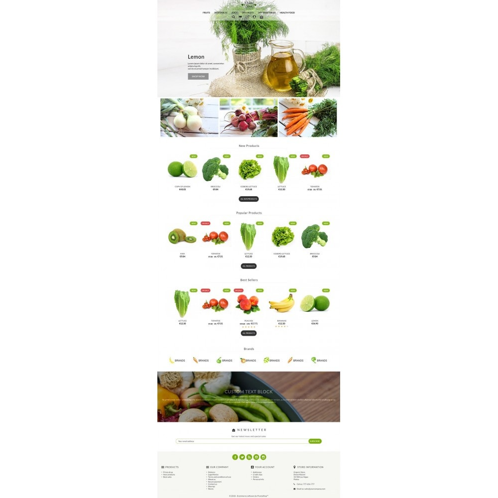 theme - Alimentation & Restauration - Organic Food - 2