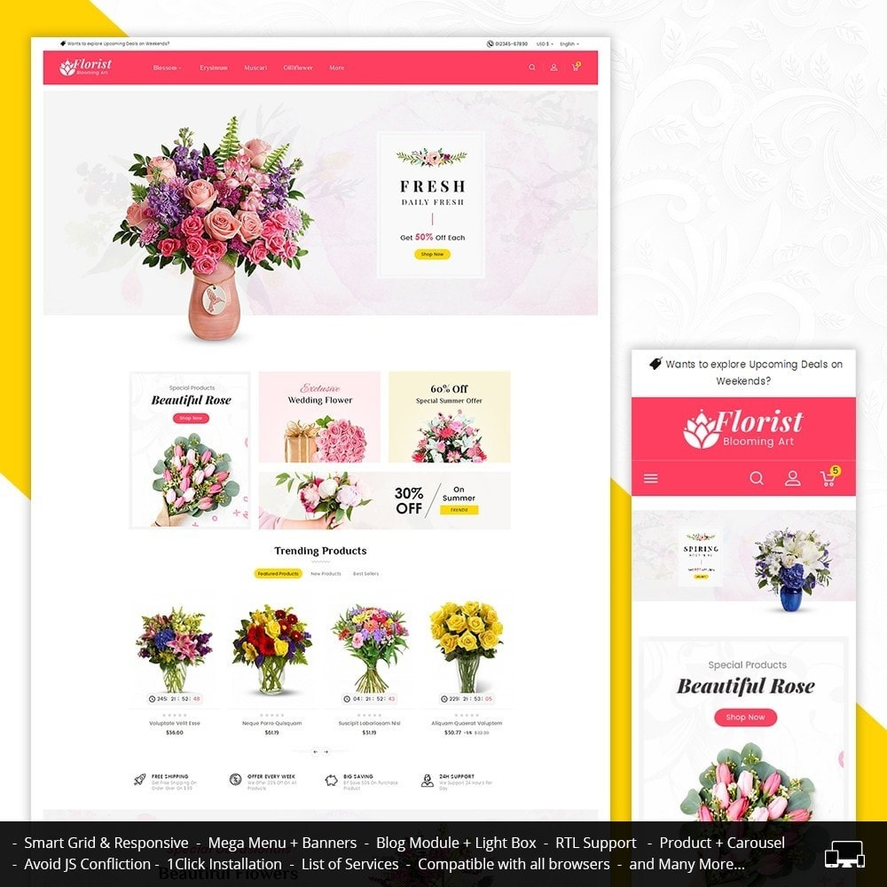 theme - Gifts, Flowers & Celebrations - Florist Blooming Art - 1
