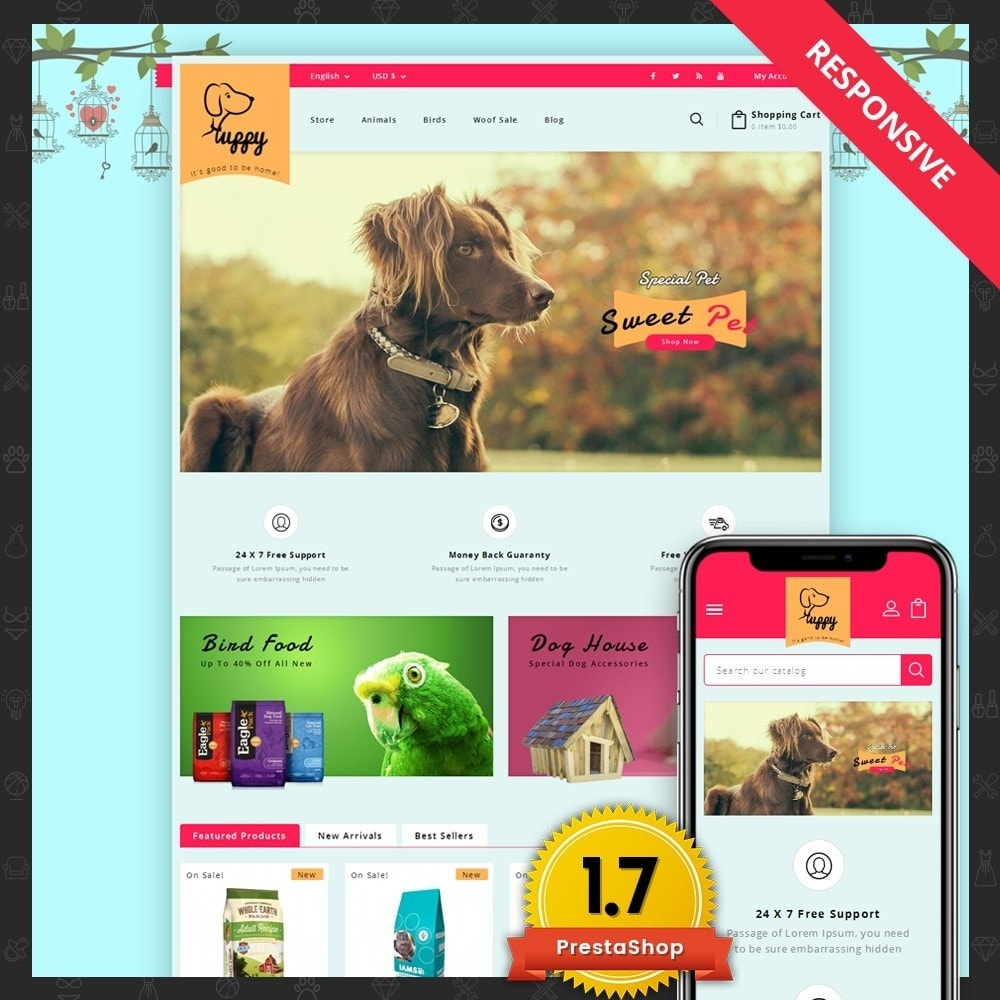 theme - Animais - Puppy Pet Store - 1