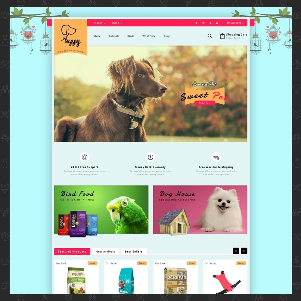 theme - Animais - Puppy Pet Store - 2
