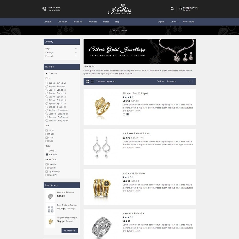 theme - Bellezza & Gioielli - Jewellers - Jewelry Shop - 4