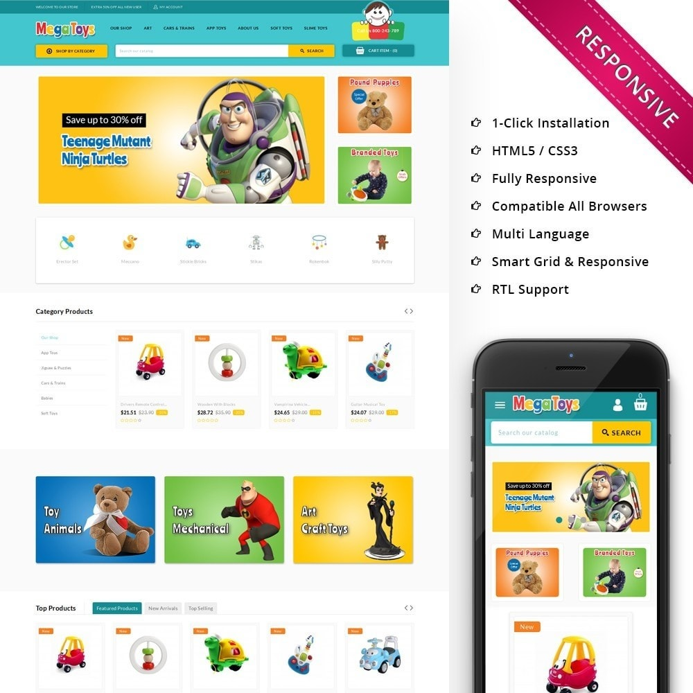 Mega Toys The Toy Shop Prestashop Addons