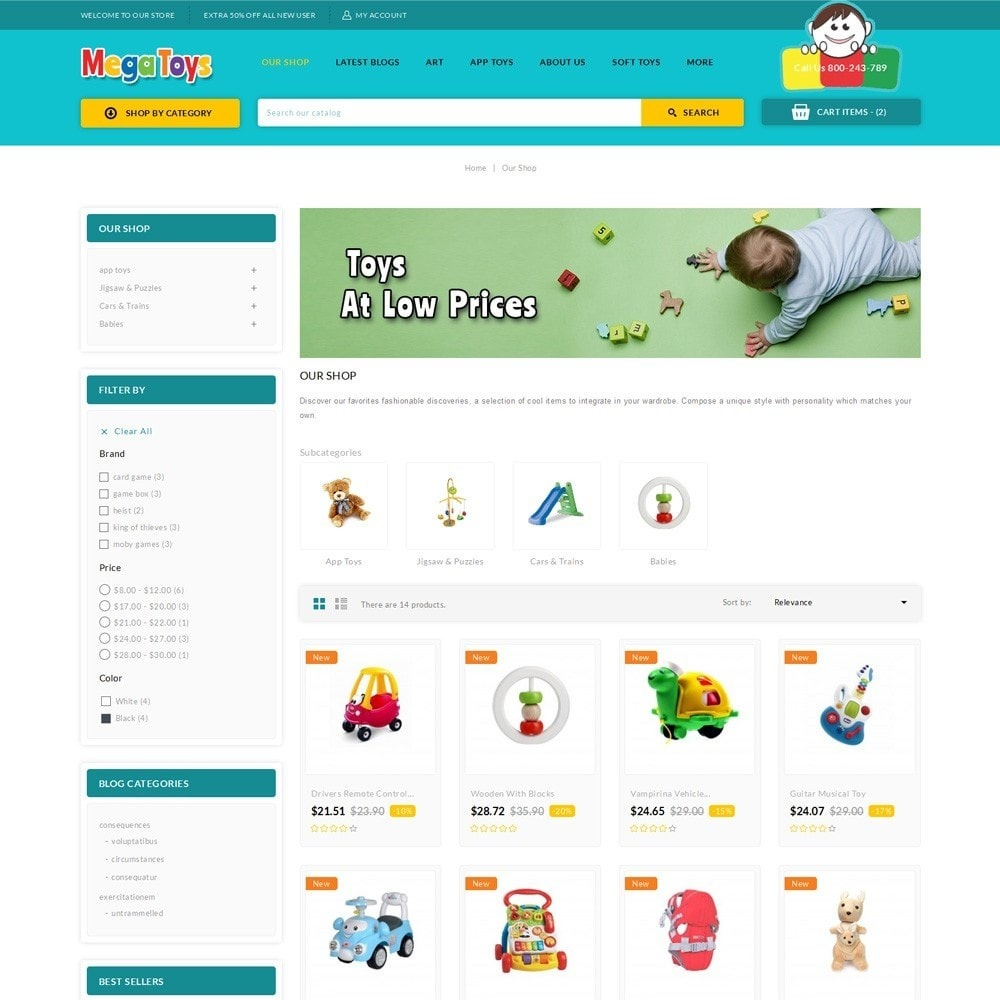 theme - Niños y Juguetes - Mega Toys - The Toy Shop - 4