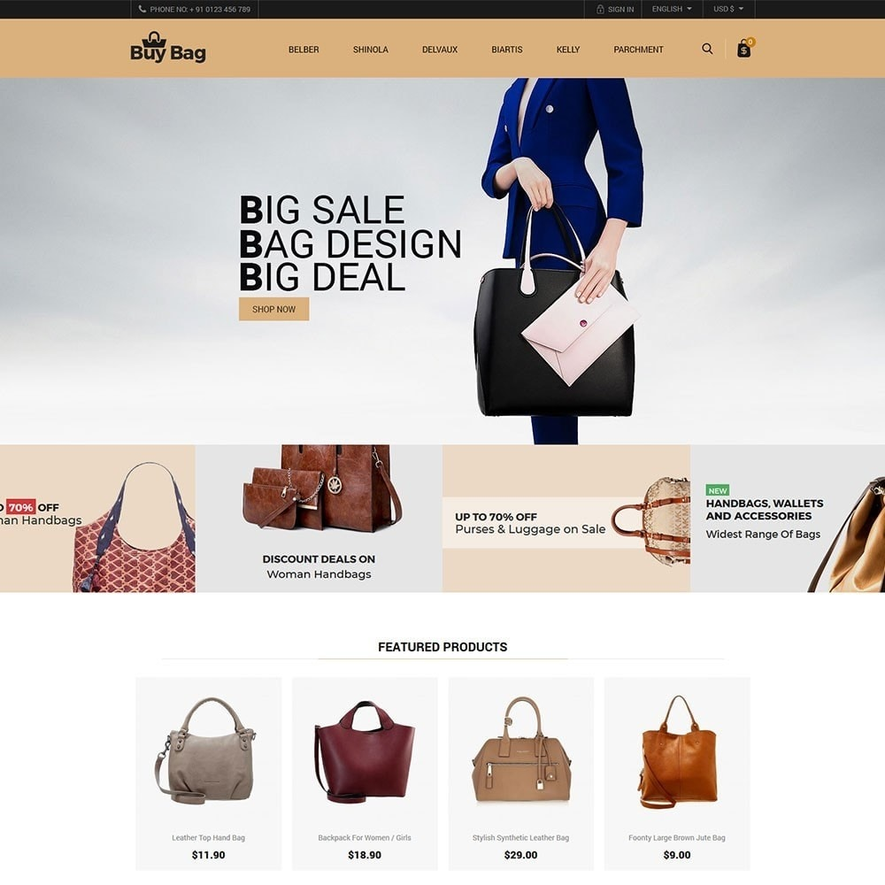 theme - Mode & Schoenen - Buy Bag - Fashion Store - 2