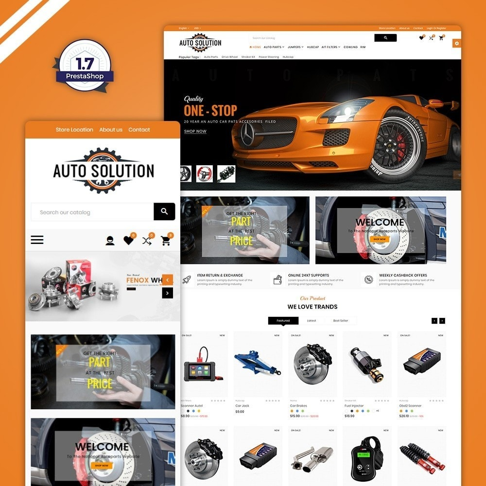 theme - Carros & Motos - Auto Solution – Automotive And Cart - 1