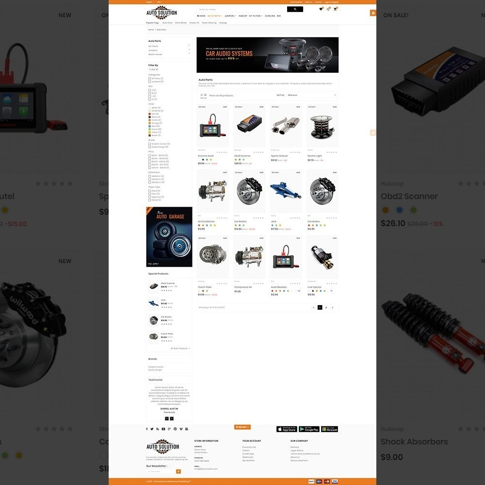 theme - Carros & Motos - Auto Solution – Automotive And Cart - 3