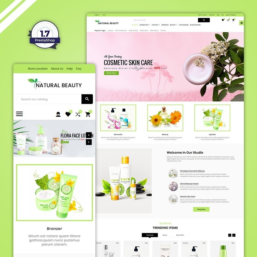 Natural Beauty - Cosmetic and lingerie Shop