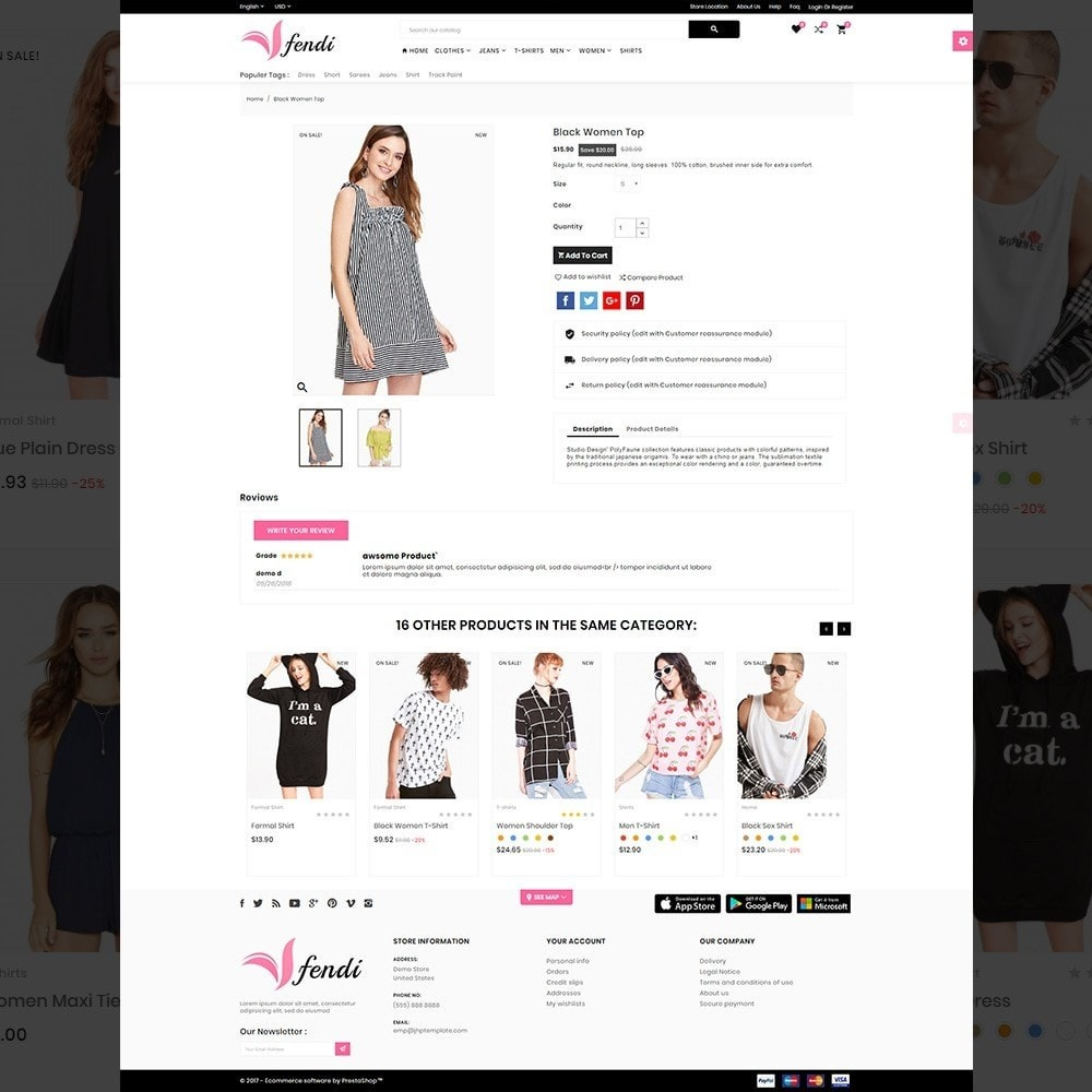 theme - Moda & Calçados - Fendy – Fashion Style Mega Shop - 4