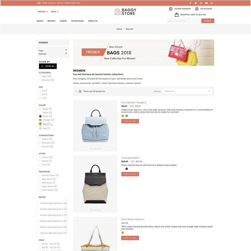 theme - Moda & Obuwie - Baggy Bag Store - 6