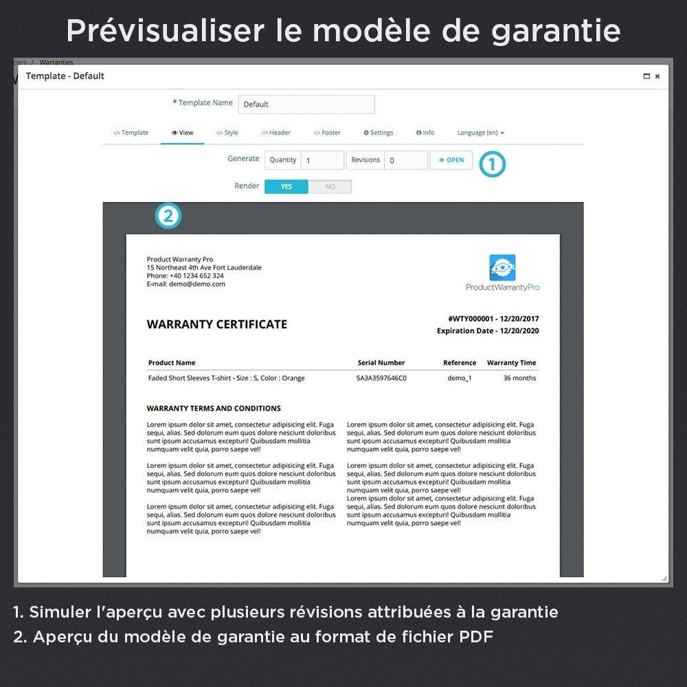 module - Gestion des Commandes - Produit Garantie Pro - 19