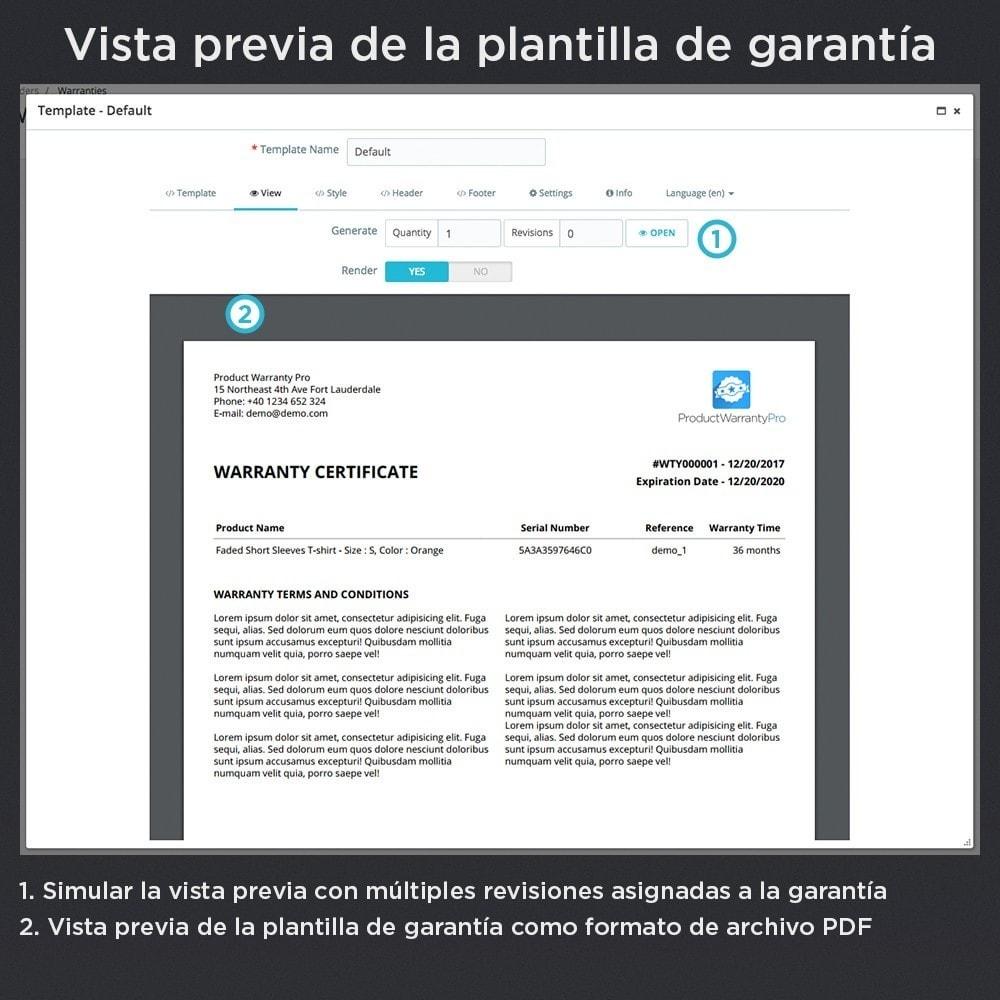 module - Gestión de Pedidos - Garantía del Producto Pro - 19