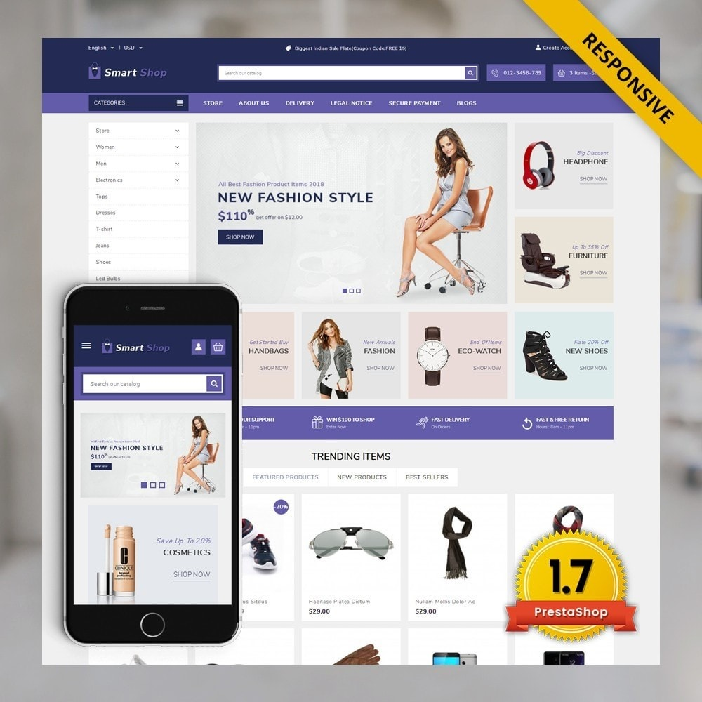 theme - Eletrônicos & High Tech - SmartShop - The MegaShop - 1