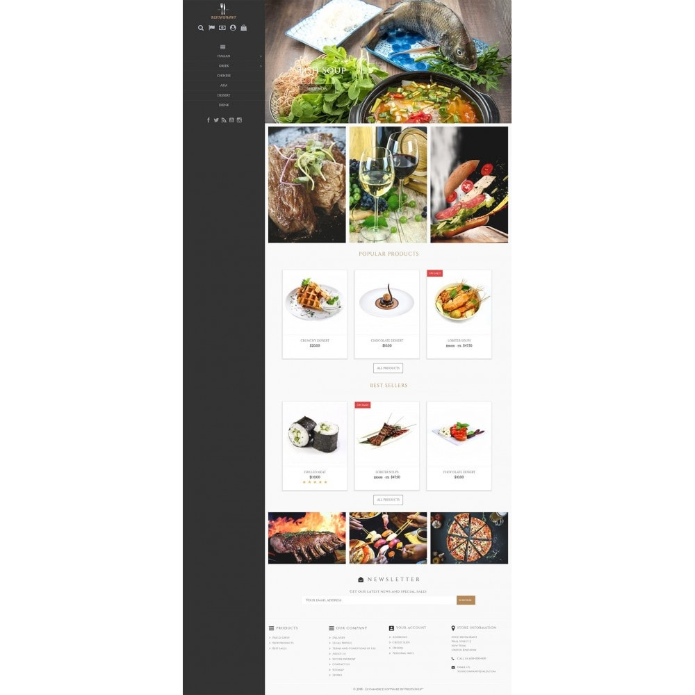 theme - Alimentation & Restauration - Universal Restaurant - 2