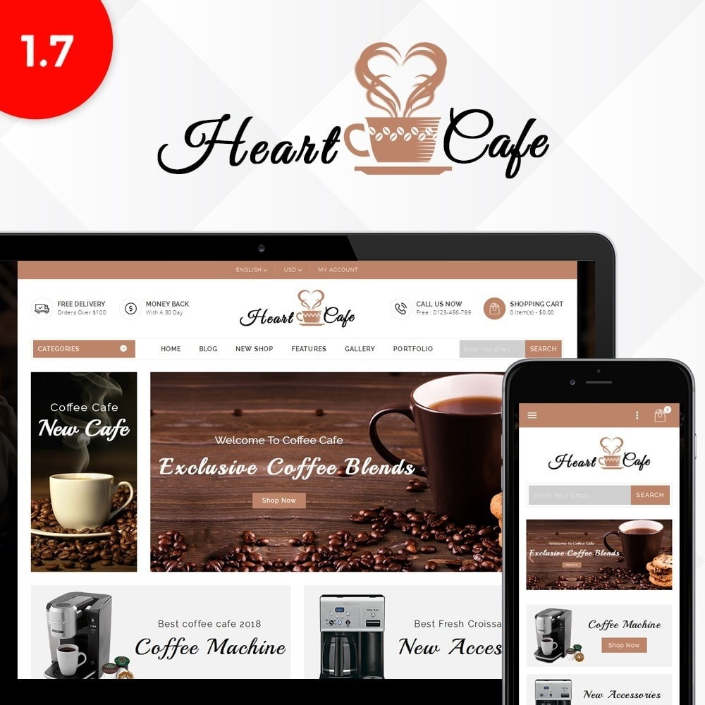 Heart cafe store