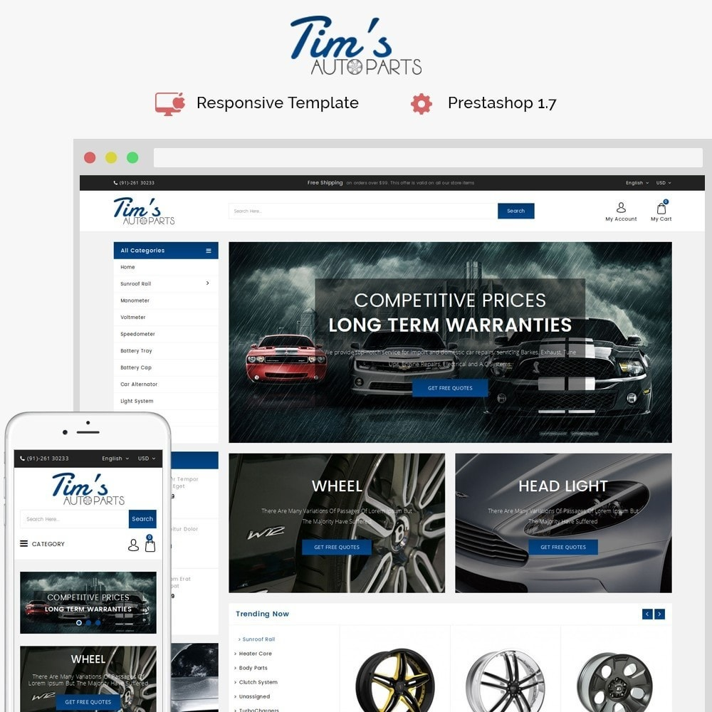 Tim's Autoparts Store