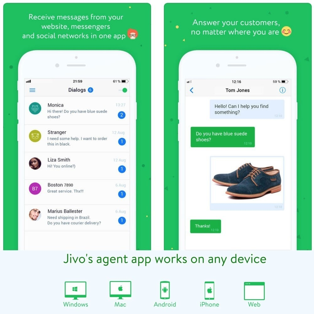 module - Supporto & Chat online - JivoChat live chat Agent - 6