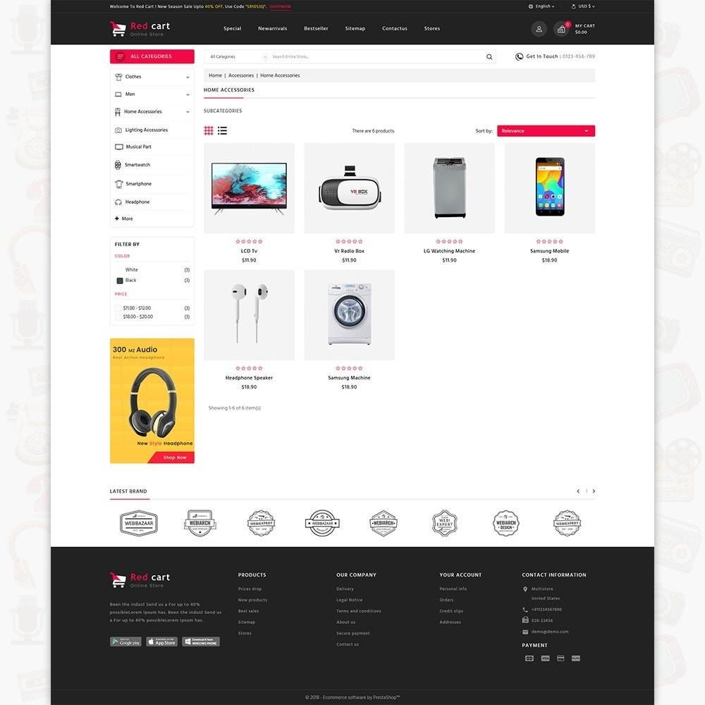 RedCart - The Mega Ecommerce Store