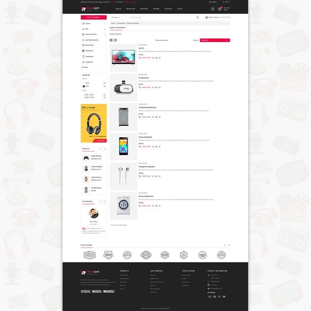 theme - Elettronica & High Tech - RedCart - The Mega Ecommerce Store - 4