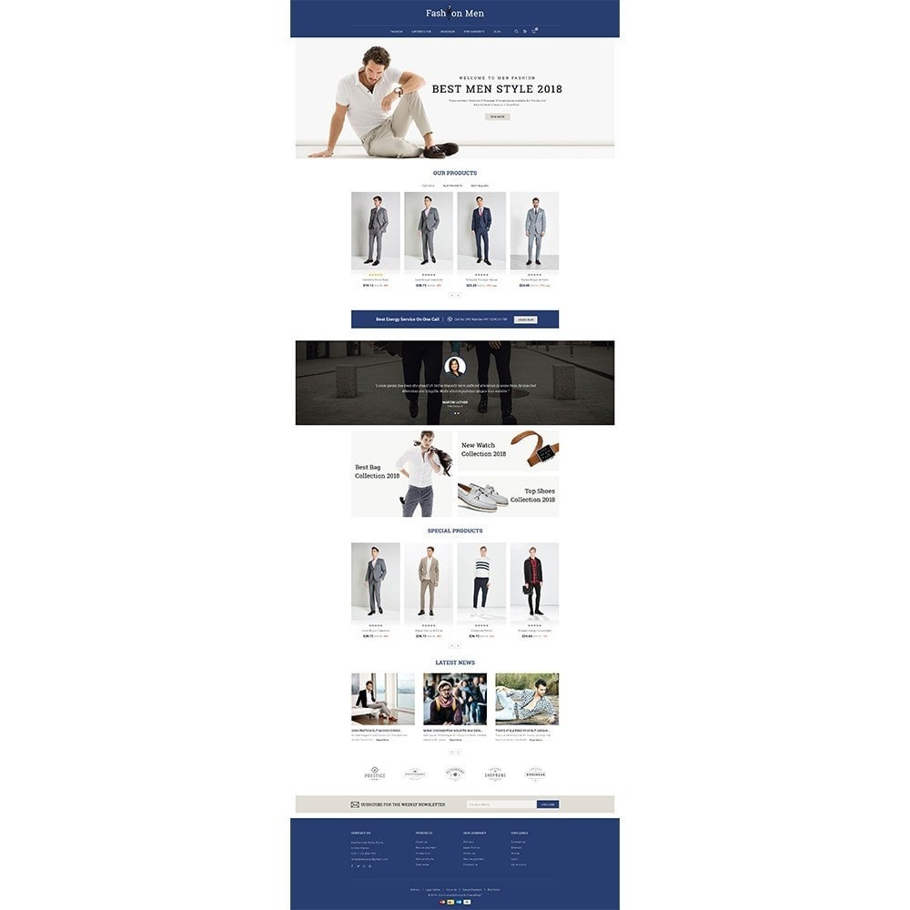 Fashionmen Demo Store