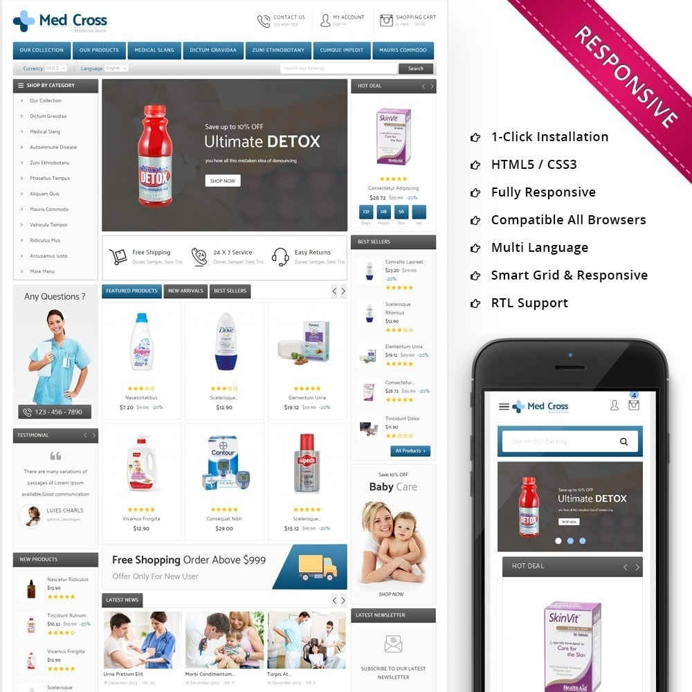 theme - Saúde & Beleza - Medcross - The Medical Shop - 1