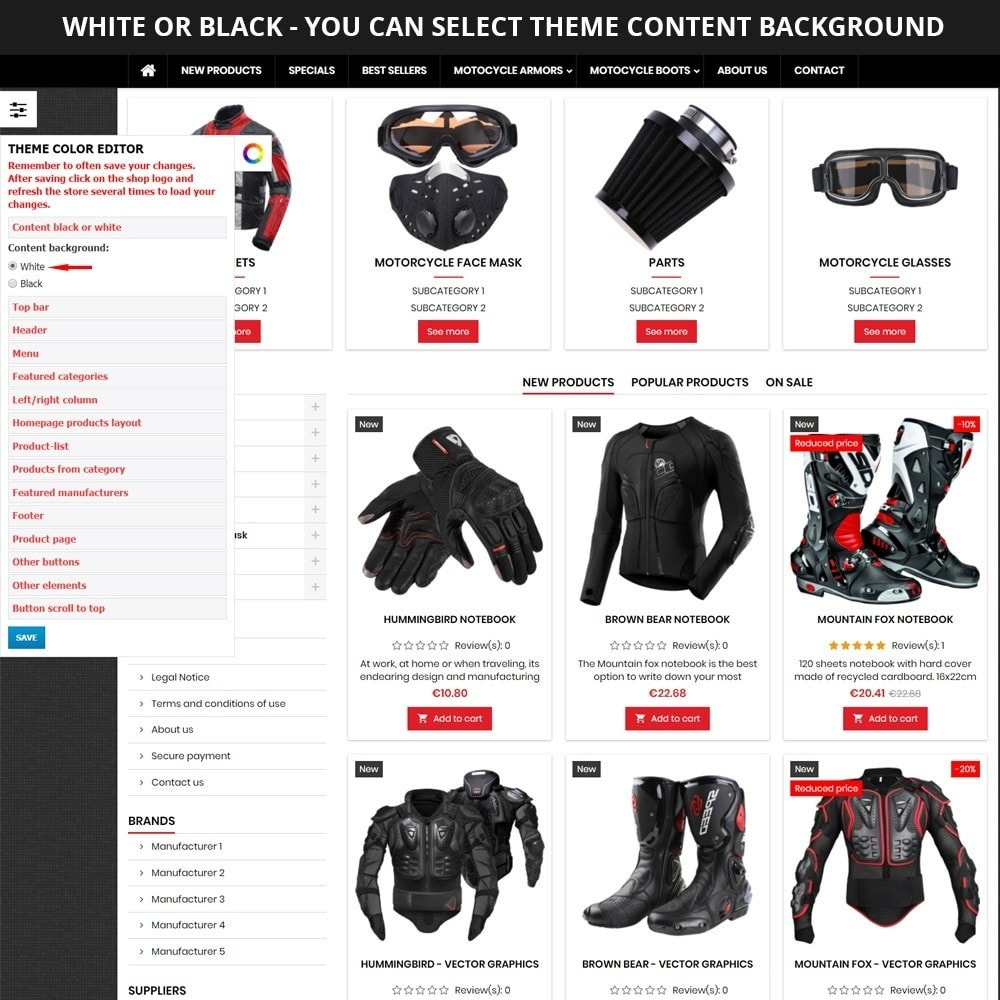 theme - Automotive & Cars - AT19 Black - Motorcycles cloths and parts store - 10