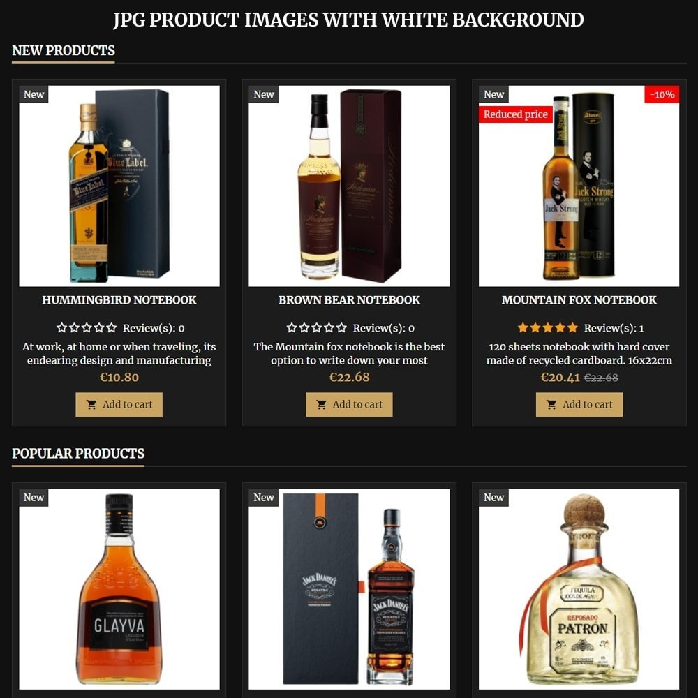 theme - Bebidas & Tabaco - AT18 Black - Drink, alcohol, liquor, whisky, beer store - 8