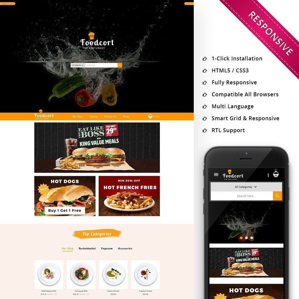 theme - Food & Restaurant - Foodcort Restaurant - 1