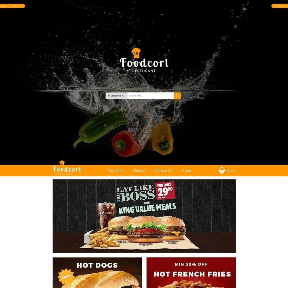 theme - Food & Restaurant - Foodcort Restaurant - 2