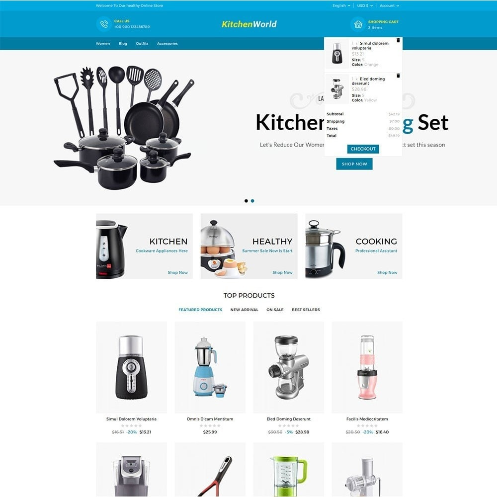 Kitchen World Online Store