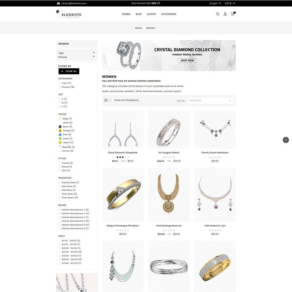 theme - Jewelry & Accessories - Elements Jewellery Store - 4