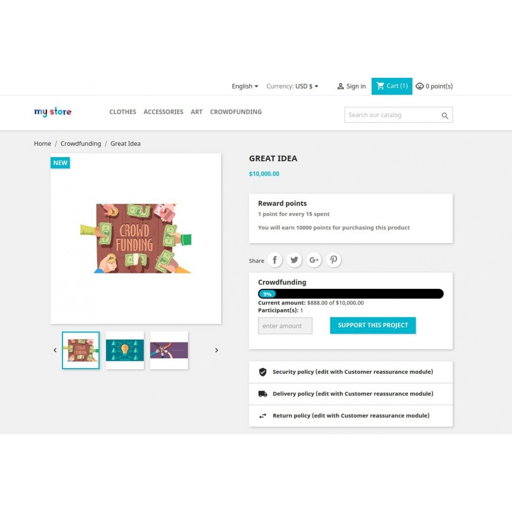 module - Other Payment Methods - Pay together / Crowdfunding / Fundraising - 10