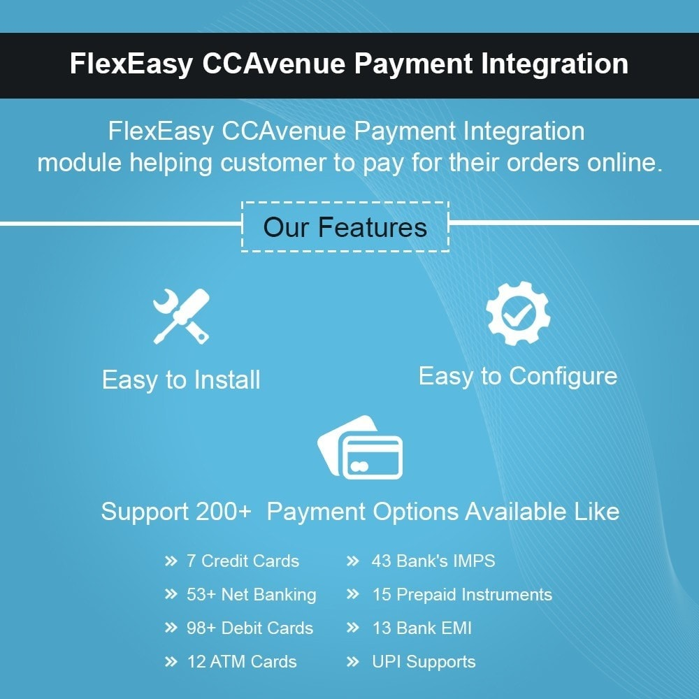 module - Payment by Card or Wallet - FlexEasy CCAvenue Payment Integration - 1