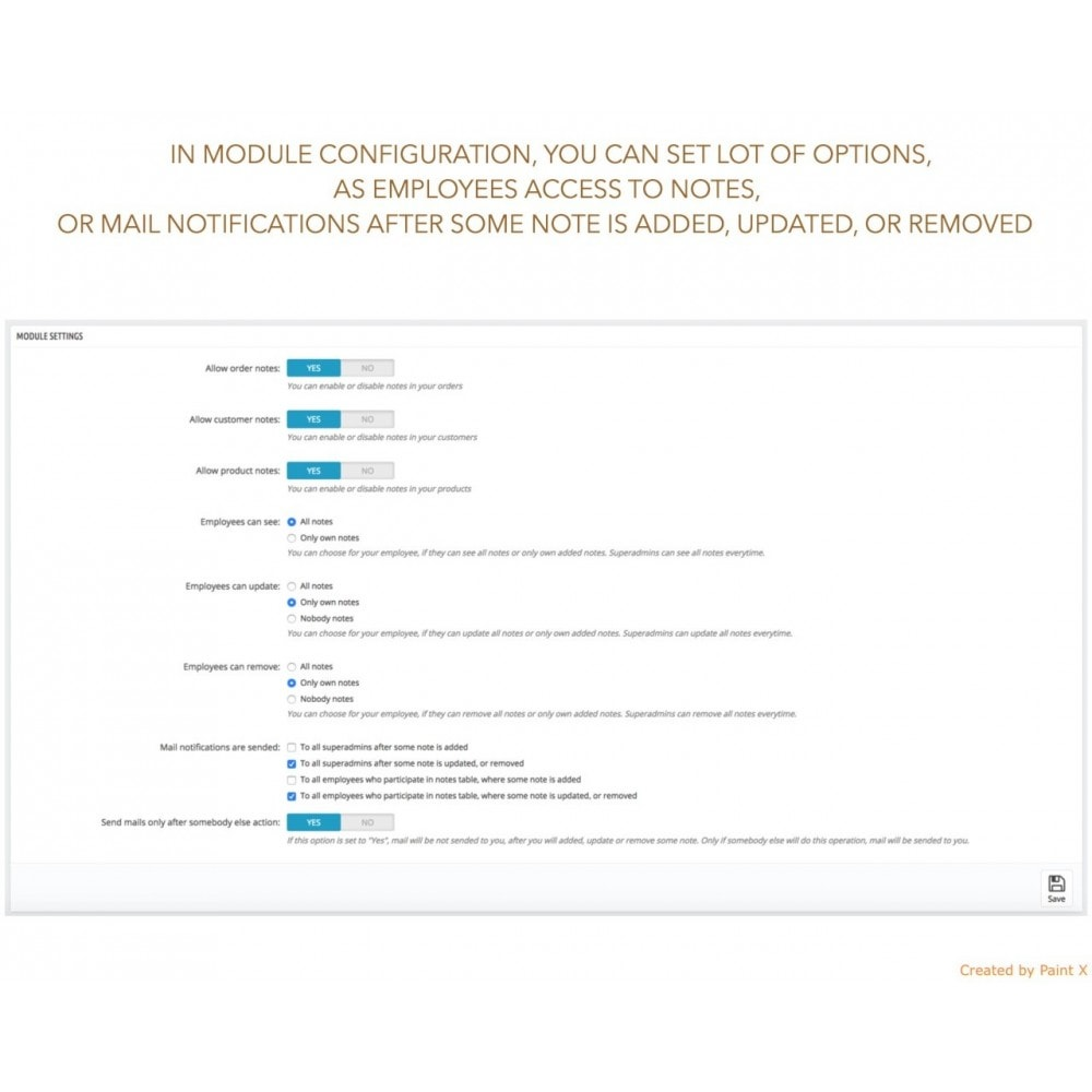 module - Iscrizione e Processo di ordinazione - Advanced Notes for Orders, Products and Customers - 4