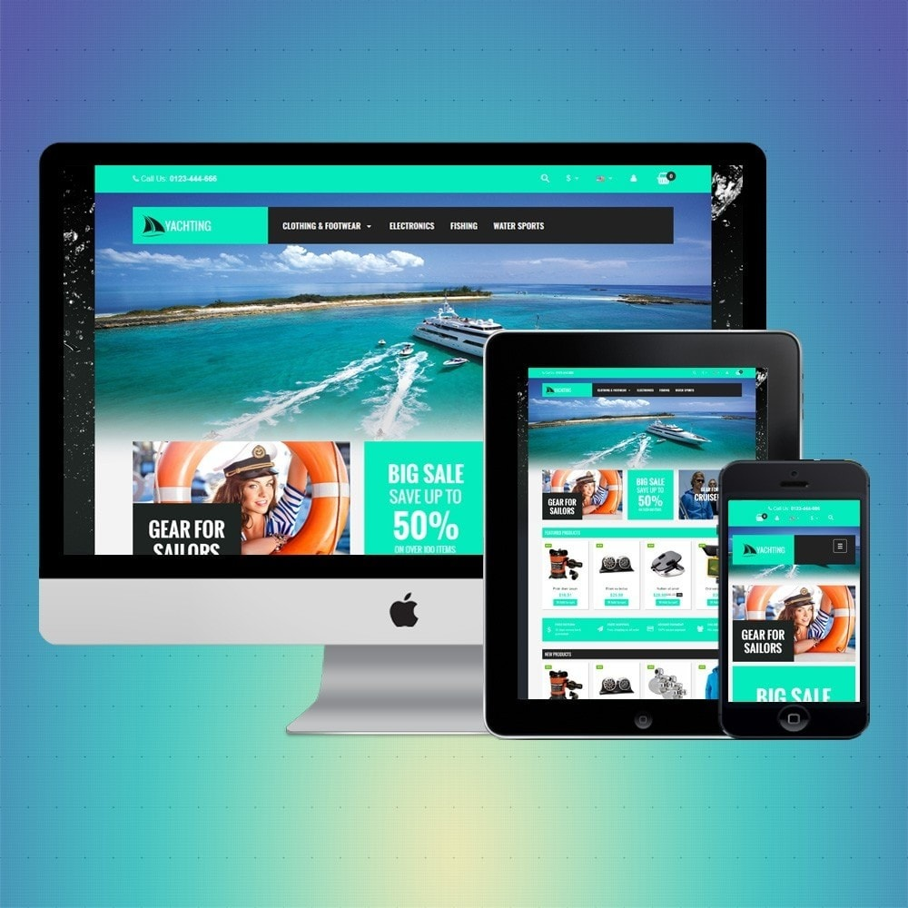 theme - Sports, Activities & Travel - VP_Yachting Store - 1