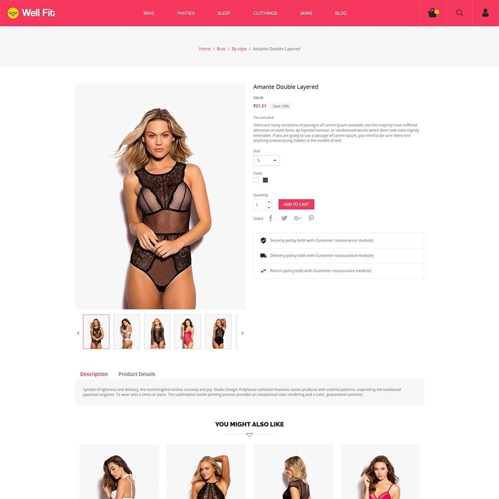 theme - Mode & Chaussures - Wellfit - Lingerie  Fashion Store - 5