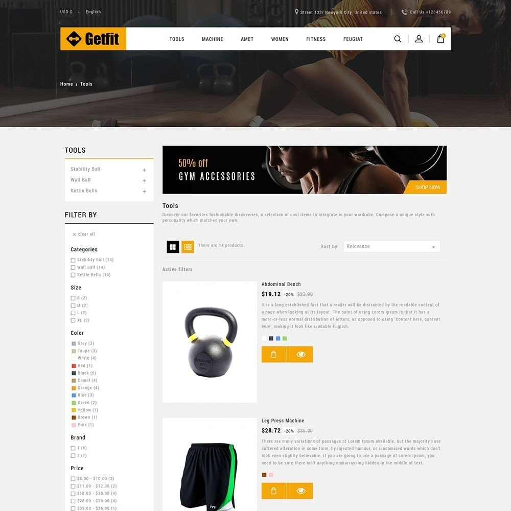 theme - Mode & Chaussures - Get Fit Gym Store - 4