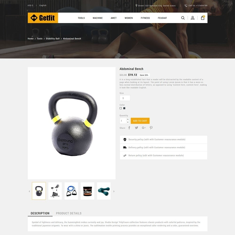 theme - Mode & Chaussures - Get Fit Gym Store - 5