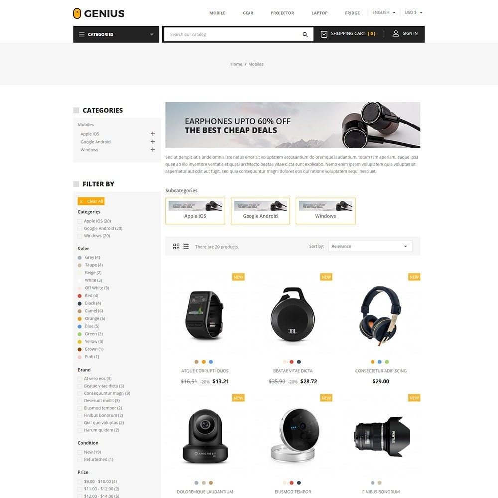 Genius - Electronics Online Store