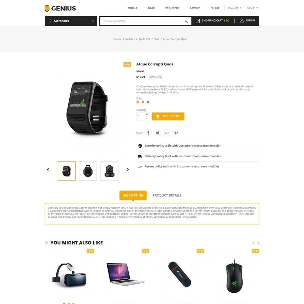 theme - Elektronica & High Tech - Genius - Electronics Online Store - 5