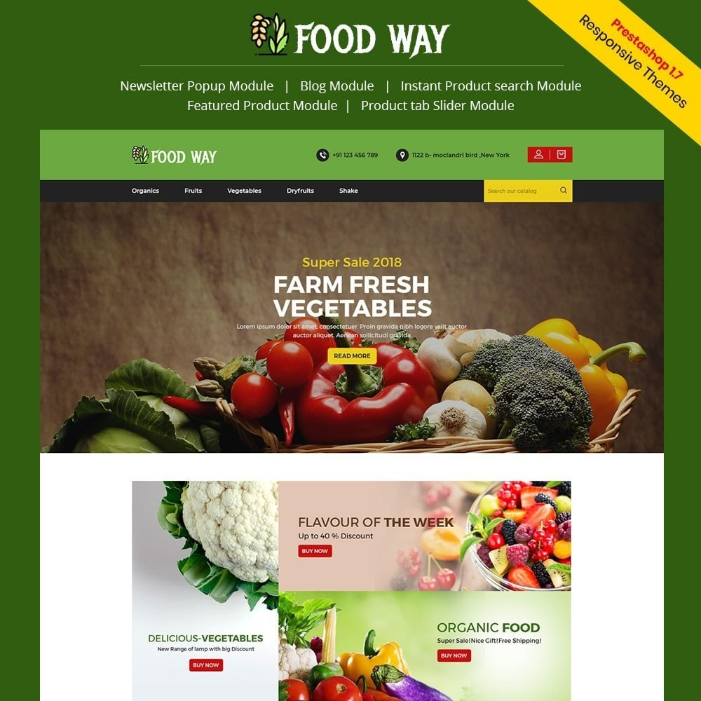 theme - Food & Restaurant - Foodway Food Store - 1