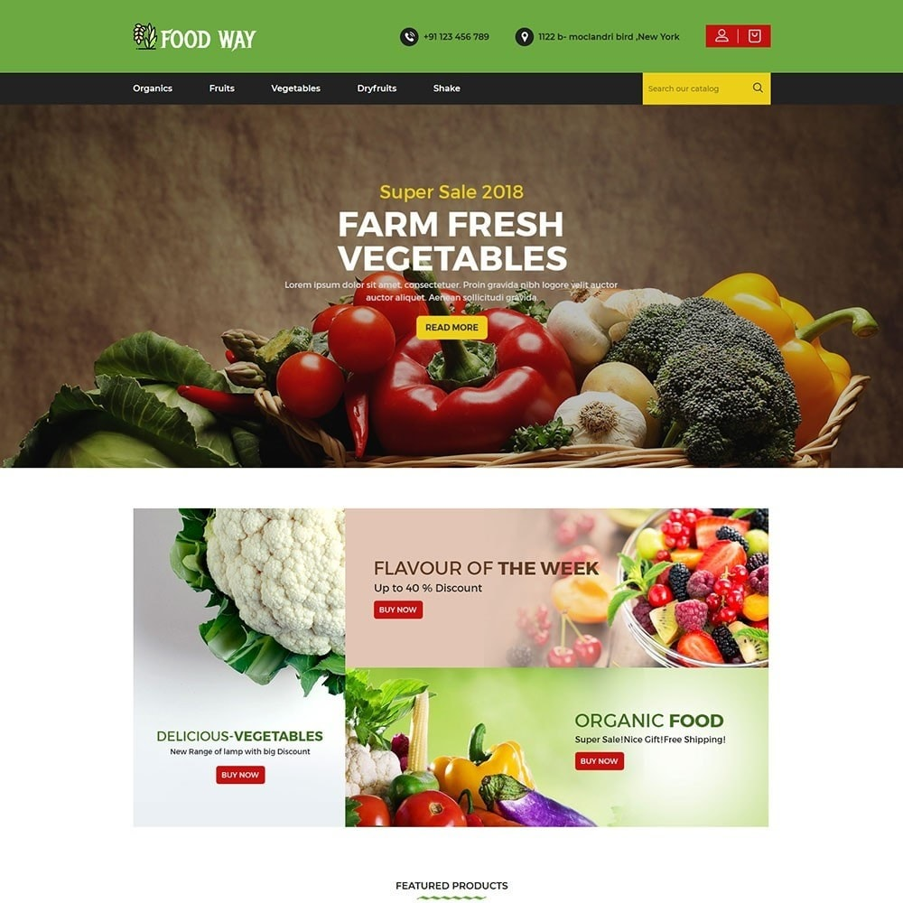 theme - Food & Restaurant - Foodway Food Store - 2