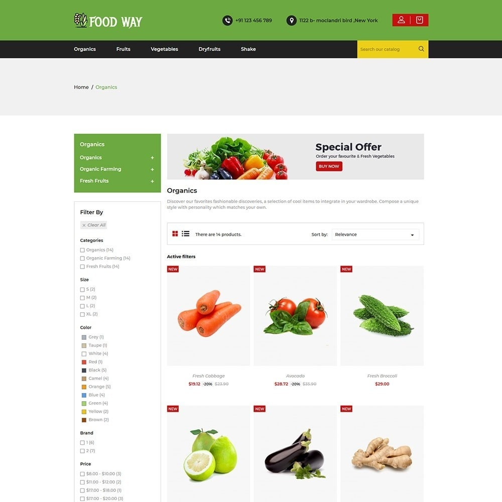 theme - Food & Restaurant - Foodway Food Store - 3